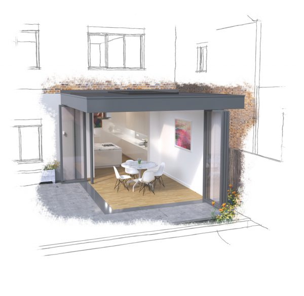 Home Extension Floating Corner House Cool Buildings