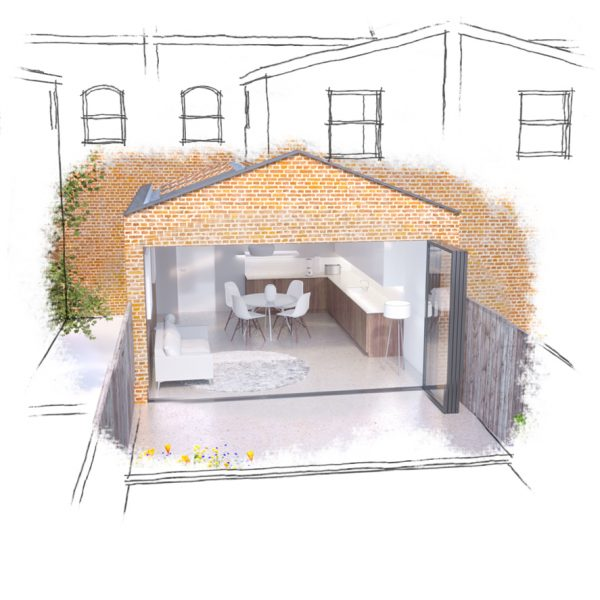 Rear kitchen extension by Cool Buildings